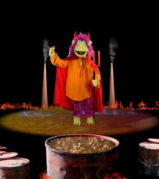 Satanás fondo fuego